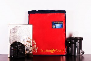 StudioWOrld Backdrops packaging with camera