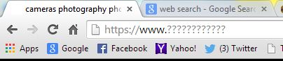 Web browser url bar