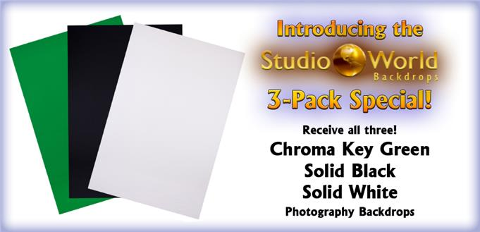 Photography Backdrop 3-Pack Combo Deal